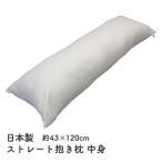 抱き枕  枕 まくら ロングクッション 中身 中材 サイズ43x120cm日本製 妊婦 ロングピロー