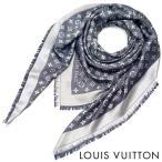 ルイヴィトン LOUIS VUITTON ルイ ヴィトン LV レディース メンズ ストール ショール モノグラム デニム M71376 ブルー(ネイビー)