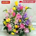 ショッピング春 春の花ミックス Lサイズ 生花アレンジメント 入学 卒業 お誕生日 記念日のお祝いに送料無料