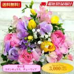 春の花ミックス Mサイズ 生花アレンジメント「歓送迎」「送別」「退職」「贈り物」「卒業」 送料無料