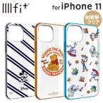 ディズニー iPhone11 iPhoneXR 耐衝撃ケース IIIIfit ハイブリッド ストラップホール ミッキー プーさん トイストーリー DN-656