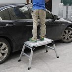 踏み台 足場 軽量アルミ製 折りたたみ二段足場 洗車 ###2段足場AW0103A☆###