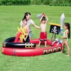 パイレーツ プレイプール 140×190cm ビニールプール 家庭用プール ファミリープール 大型 子供用 プール 水遊び おもちゃ ###プール53041###