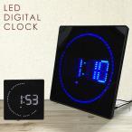 時計 LED デジタルクロック スクエア スリム 掛け時計 置き時計 ウォールクロック カレンダー機能 温度計 おしゃれ プレゼント ギフト ###時計JH3280###