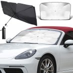 汎用 サンシェード 車 フロント 傘 折り畳み 折りたたみ 傘式 カーフロント 日除け 日よけ 紫外線対策 遮光 遮熱 UVカット コンパクト ###車用傘QCZYS-###