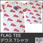 デウス tシャツ メンズ プリント トップス フラッグ デウスエクスマキナ 白 ホワイト DEUS EX MACHINA FLAG TEE DMS51618 5042