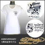 エドハーディー Tシャツ レディース 半袖 丸首 ラブキル/ホワイト 白 A1XBJALK 5周年記念モデル  EDHARDY 1062
