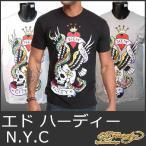 エドハーディー Tシャツ メンズ 半袖 S-XL NYC/白黒灰 グレー ドン エド・ハーディー エド ハーディー  EDHARDY 5220