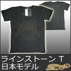 エドハーディー Tシャツ メンズ 半袖 ラインストーン ラブキル/黒 ブラック EDHARDY 5232
