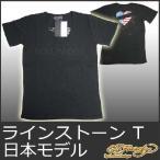エドハーディー Tシャツ メンズ 半袖 ラインストーン HOLLYWOOD/黒 ブラック EDHARDY 5238