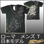 エドハーディー Tシャツ メンズ 半袖 スタッズ&スパンコール ローマ/黒 ブラック EDHARDY 5240