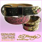 エドハーディー ベルト レディース 本革 虎&薔薇/黒 EH3299 Genuine Leather レザーベルト ビンテージ EDHARDY 9128