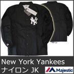 マジェスティック ナイロン ジャケット メンズ コーチ ニューヨーク ヤンキース 黒 ブラック MAJESTIC Athletic Mens MLB NEWYORK YANKEES Black 5035 冬