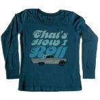 マイティー ファイン Tシャツ キッズ 男の子 女の子 子供服 4-5才 ミニファイン 長袖 ブルー 青 車柄 Mini Fineキットソン KITSON