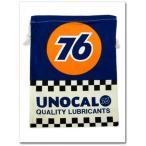 【UNOCAL76の巾着袋(Lサイズ)】 ユノカルユニオン76 入学準備 園児に必須のきんちゃく袋!学校の給食袋、体操服入れにも調度いい!
