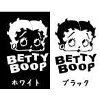カッテッィングステッカーBETTY BOOP フェイス 2色セット