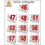 【Carl'sJr. waiting plate(46〜59)】全10種類 カールスJrシボレーインパラキャデラックカプリスモンテカルロウェイティングプレートサインプレート