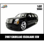 1/32スケール プルバックミニカー 2007 CADILLAC ESCALADE ESV(ブラック)】2007年キャデラックエスカレード アメ車 JADATOYS社製 1:32