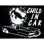 カッティングステッカー AICAMU  GIRL CHILD IN CAR (全3色)車 バイク アメリカン チャイルドインカーセーフティー