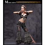 新着 ベリーダンス  衣装  チョリタイプブラ ヒップベルト 2点セット アメリカントライバルスタイル衣装(ATS) ATSW01057TZ