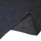 藍染 茶藍二重織スラブ刺子 NJ51207109