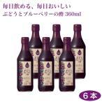 内堀醸造 フルーツビネガー ぶどうとブルーベリーの酢 360ml×6本 酢 ぶどう ブルーベリー  飲む酢 調味料 料理 ビネガー