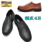 (クールビズ)Wilson(ウイルソン)幅広4E/スリッポン/両側ゴム付き付/超軽量/No1602