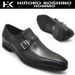 本革ビジネスシューズ/ 《HIROKO KOSHINO HOMME》 ヒロココシノ ベルト スリッポン No121