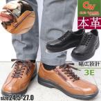 本革/ファスナー付き/3E/CLUB WALKER/ウォーキングシューズ/No5101