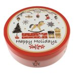 クリスマス お菓子 クリスマス サークル缶 (お申込日12/13まで)(のし包装メッセージカード対応不可品)