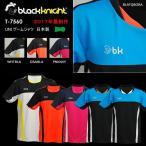 バドミントン スカッシュ ブラックナイト BLACK KNIGHT ユニ バドミントン ウェア  半袖 ゲームシャツ ゲームウェア  T-7560