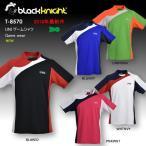バドミントン スカッシュ ブラックナイト BLACK KNIGHT 日本製 ユニ UNI ゲームシャツ バドミントン ウェア  バドミントン協会公認 ゲームウェア  T-8570