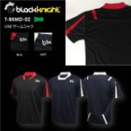 値下げ バドミントン スカッシュ ブラックナイト BLACK KNIGHT ユニ バドミントン ウェア  バドミントン協会公認 ゲームシャツ T-BKMD-02