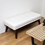 アンティーク調 PVCレザー ベンチ ベンチソファ 玄関ベンチ オットマン 完成品