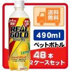 リアルゴールド フレーバーミックスレモン 490ml ペットボトル 24本入り/2ケース 計48本 炭酸飲料 リアルゴールド ご注文の数量は48本単位でご注文下さい!