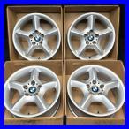 中古ホイール 送料無料 BMW純正 X5 スタースポーク 17x7.5 40 120-5穴 4本 中古アルミホイール