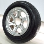 中古タイヤ 送料無料 ブリヂストン  ECOPIA EX20 RV 195/65R15  WEDS アルミホイール 15x6.5 28 139.7-6穴 4本セット サマータイヤ