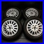 中古タイヤ 送料無料 ヨコハマ ブルーアース E52A 195/65R15  トヨタ純正 80ノア・VOXY純正 15x6.0 50 114.3-5穴 4本セット サマータイヤ