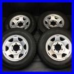 中古タイヤ 送料無料 ブリヂストン DURAVIS 195/80R15 107/105L LT トヨタ純正  15x6.0  139.7-6穴 4本セット サマータイヤ