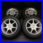 中古タイヤ 送料無料 ヨコハマ ブルーアース -A 215/60R16    オートバックス LEBEN 7本スポーク 16x7.0 35 114.3-5穴 4本セット サマータイヤ