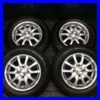 中古スタッドレスタイヤ 送料無料 オートバックス ノーストレック N2 145/80R13    SIBILLA IR-Z 13x4.0 38 100-4穴 4本セット
