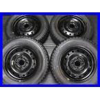中古スタッドレスタイヤ 送料無料 グッドイヤー アイスナビ ZEA2 155/65R13  ホンダ純正  13x4.0  100-4穴 4本セット