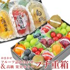 【プチ重箱】 KPJ-1(プチフルーツ15個・高級果実ゼリー3個)フルーツ くだもの 果物 ハロウィン お歳暮 七五三