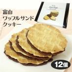 富山 お土産 富山ワッフルサンドクッキー 12個 チョコ ワッフル サンドクッキー スイーツ 洋菓子 富山みやげ