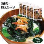 富山 お土産 海鮮汁 100g×5袋 富山みやげ おみやげ 富山県産白えび使用 即席スープ 簡単 わかめ えび オキアミ 白エビ 昆布 即席 インスタ