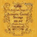 【アコギ弦×1セット】ARIA AGS-200C/XL [10-47] アコースティックギター用 コーティング弦/メール便発送・代金引換不可