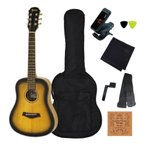 Fiesta by Aria FST-MINI BS/アコギ定番8点セット (Brown Sunburst) ミニサイズ・アコースティックギター マット・フィニッシュ ミニギター