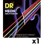 [弦×1セット]DR NMCB-45×1[45-105] NEON マルチカラー ベース弦/メール便発送・代金引換不可 弦のカラー配列が「Rocksmith 2014 (ロックスミス)」と同じ!