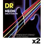 [弦×2セット]DR NMCB-45×2[45-105] NEON マルチカラー ベース弦/メール便発送・代金引換不可