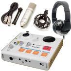 TASCAM US-32+TM-80+CAD MH510CR MiNiSTUDIO PERSONALインターネット生放送(オーディオI/F+純正マイク+ヘッドホン)/送料無料